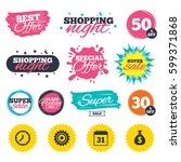 sale shopping banners. special...   Shutterstock .eps vector #599371868