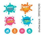 best offer and sale splash... | Shutterstock .eps vector #599374190