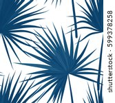 vector tropical background with ... | Shutterstock .eps vector #599378258