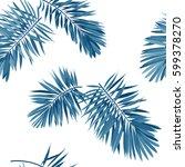 seamless vector indigo blue... | Shutterstock .eps vector #599378270