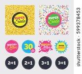 gold glitter and confetti...   Shutterstock .eps vector #599378453