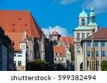 old city view with st. sebaldus ...   Shutterstock . vector #599382494