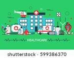 horizontal banner in modern... | Shutterstock .eps vector #599386370