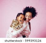 young pretty african american... | Shutterstock . vector #599393126