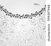 vector music  background ... | Shutterstock .eps vector #599397968