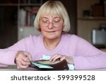 happy smiling senior woman  an... | Shutterstock . vector #599399528