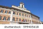 montecitorio palace  italian... | Shutterstock . vector #599405618