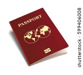 vector international passport... | Shutterstock .eps vector #599406008