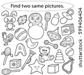 find two same pictures ... | Shutterstock .eps vector #599406404