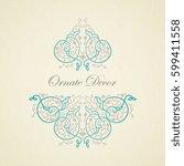 vector decorative frame....   Shutterstock .eps vector #599411558