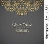 vector decorative frame....   Shutterstock .eps vector #599411564