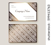 gold business card with... | Shutterstock .eps vector #599413763