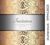 vintage gold background ... | Shutterstock .eps vector #599413820
