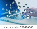 concept view of business...   Shutterstock . vector #599416343