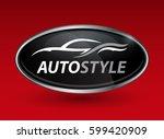 concept auto vehicle dealership ... | Shutterstock .eps vector #599420909