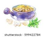 vintage still life. hand drawn... | Shutterstock . vector #599422784