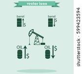 set of barrel oil icon.   Shutterstock .eps vector #599423594
