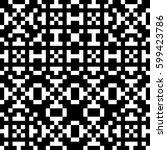 vector seamless pattern.... | Shutterstock .eps vector #599423786