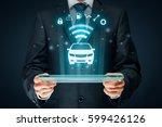 intelligent car  intelligent... | Shutterstock . vector #599426126