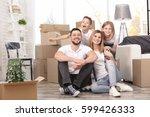 house move concept. happy... | Shutterstock . vector #599426333