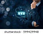 world wide web  www    internet ...   Shutterstock . vector #599429948