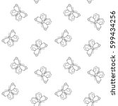 butterfly seamless pattern....   Shutterstock .eps vector #599434256