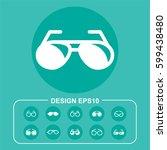 glass icon stock vector... | Shutterstock .eps vector #599438480