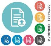 upload document flat white... | Shutterstock .eps vector #599441210