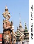 temple of the emerald buddha ... | Shutterstock . vector #599442353