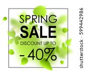 spring sale placard template...   Shutterstock .eps vector #599442986