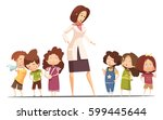 small group kindergarten... | Shutterstock .eps vector #599445644