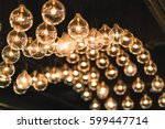 lightbulbs or lamps decorated... | Shutterstock . vector #599447714