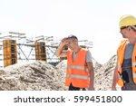 construction worker looking at...   Shutterstock . vector #599451800
