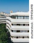 classical bauhaus architecture  ... | Shutterstock . vector #599456498