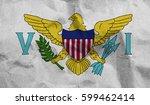 virgin islands us crumpled... | Shutterstock . vector #599462414