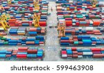 container container ship in... | Shutterstock . vector #599463908