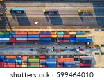 container container ship in... | Shutterstock . vector #599464010