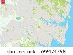 vector color map of  sydney ... | Shutterstock .eps vector #599474798