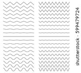 hiqh quality set of zigzags... | Shutterstock .eps vector #599479724