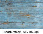 Old Blue Wood Background...