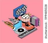 music  vector illustration ... | Shutterstock .eps vector #599485028