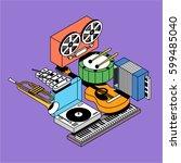 music  vector illustration ...   Shutterstock .eps vector #599485040
