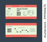 train ticket concept design.... | Shutterstock .eps vector #599500670
