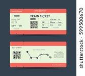 train ticket concept design.... | Shutterstock .eps vector #599500670