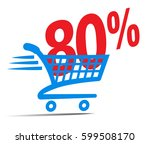 check out cart sale icon symbol ... | Shutterstock .eps vector #599508170