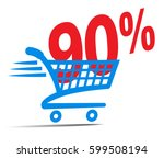 check out cart sale icon symbol ... | Shutterstock .eps vector #599508194