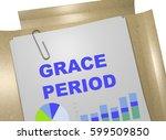 "3d illustration of ""grace per""... | Shutterstock . vector #599509850"
