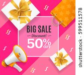 big sale banner card or poster... | Shutterstock .eps vector #599511578