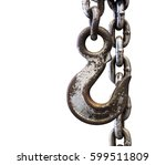 metal chain and hook isolated...   Shutterstock . vector #599511809
