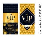 vip party premium invitation... | Shutterstock .eps vector #599511980